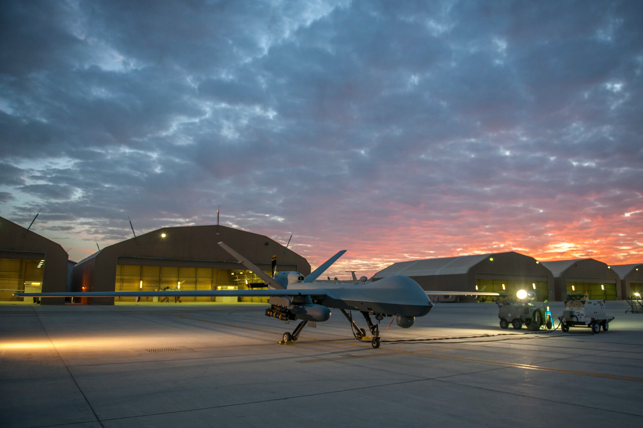 Zwijnenburg-foto-Een Amerikaanse MQ-9 Reaper in 2015 op de luchtmachtbasis van Kandahar in Afghanistan - US Department of Defense